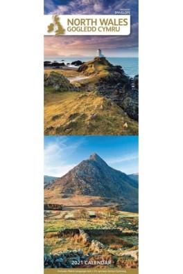 North Wales/Gogledd Cymru Slim 2021 Calendar