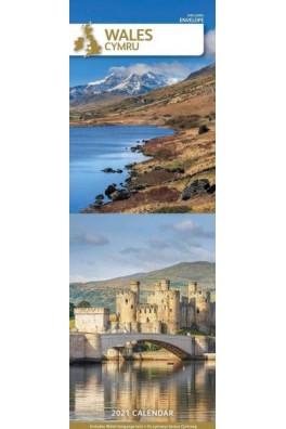 Wales/Cymru Slim Calendar 2021