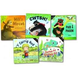 Cyfres Mynydd Troed - Y Pecyn/Bilingual Story Books - The Pack